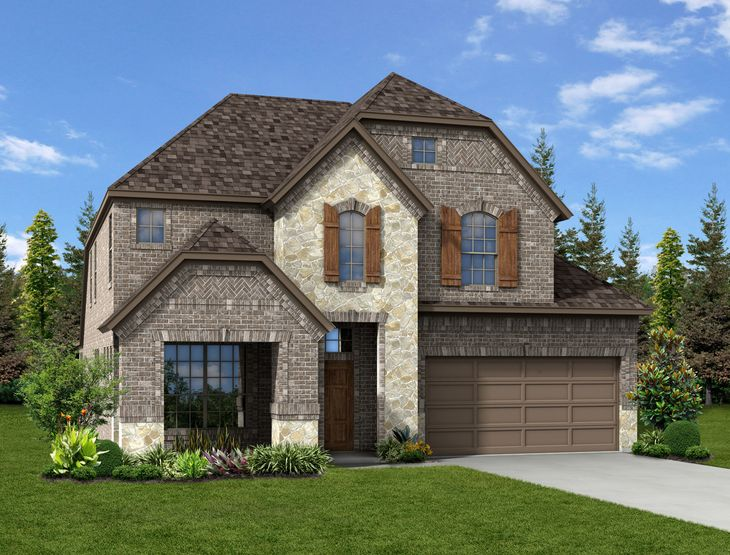 New home rendering of Grayson floor plan exterior elevation G by Dunhill Homes:Grayson - Exterior Elevation G