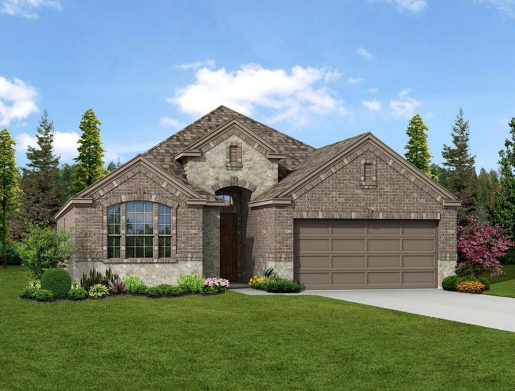 New home rendering of Oliver floor plan exterior elevation D by Dunhill Homes:Oliver - Exterior Elevation D
