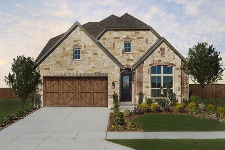 Dunhill Homes Addison II Model Home Front Exterior at Chisholm Trail Ranch:Chisholm Trail | Addison II Model Home | Front Exterior