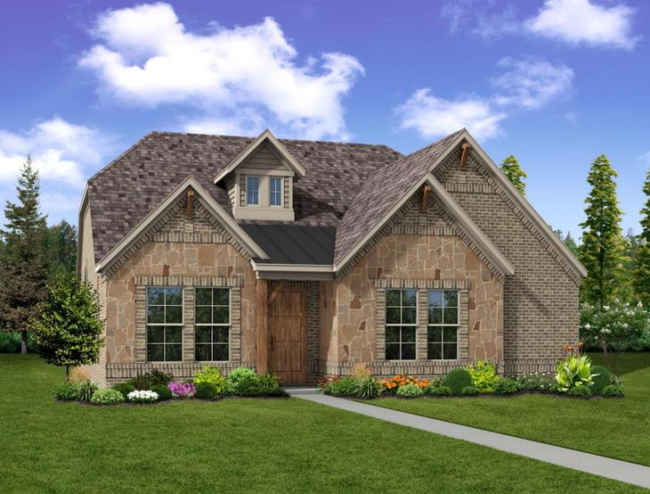 New home rendering of Reese floor plan exterior elevation C by Dunhill Homes:Reese - Exterior Elevation C