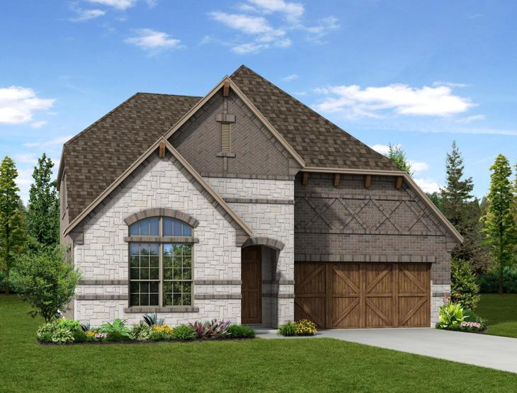 New home rendering of Sophia floor plan exterior elevation C by Dunhill Homes:Sophia - Exterior Elevation C
