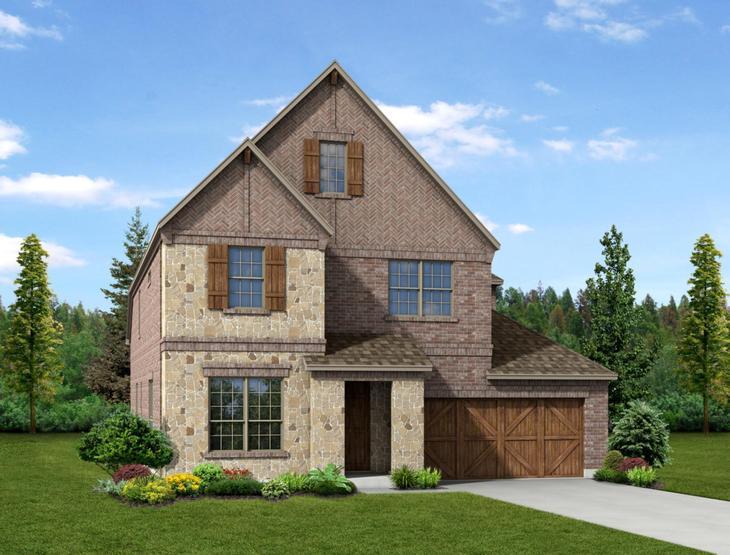 New home rendering of Skylar floor plan exterior elevation B by Dunhill Homes:Skylar - Exterior Elevation B