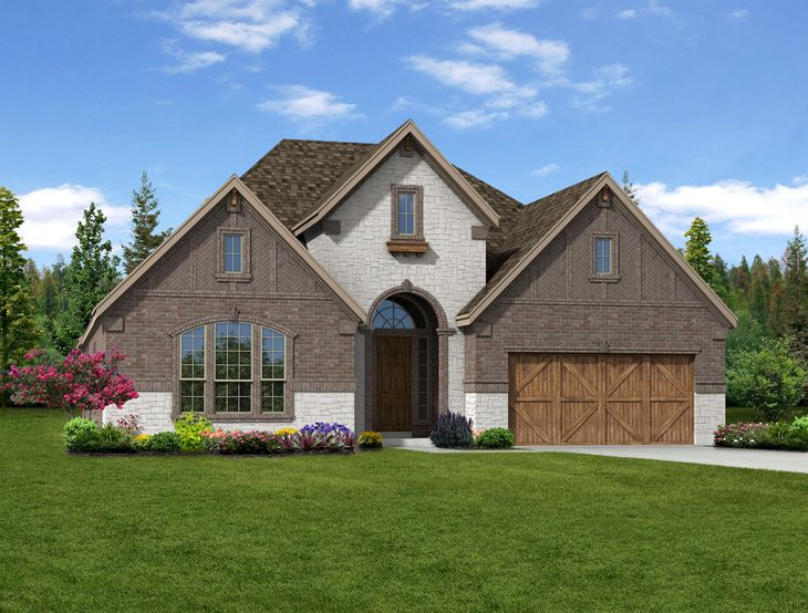New home rendering of Anna floor plan exterior elevation C by Dunhill Homes:Anna - Exterior Elevation C