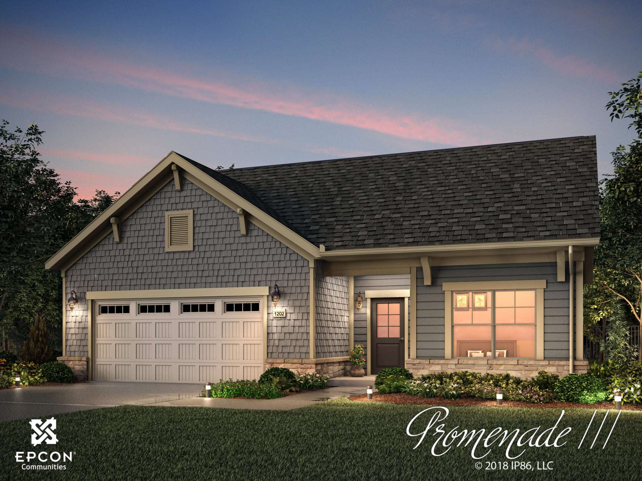 Exterior featured in the Promenade III By Epcon Communities in Columbus, OH