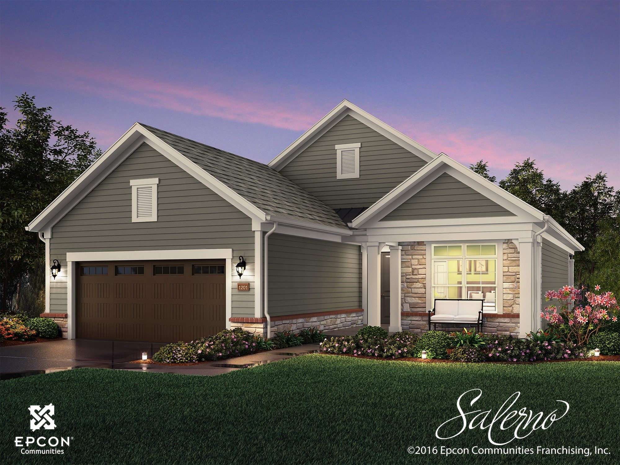 Exterior featured in the Salerno By Epcon Communities in Columbus, OH