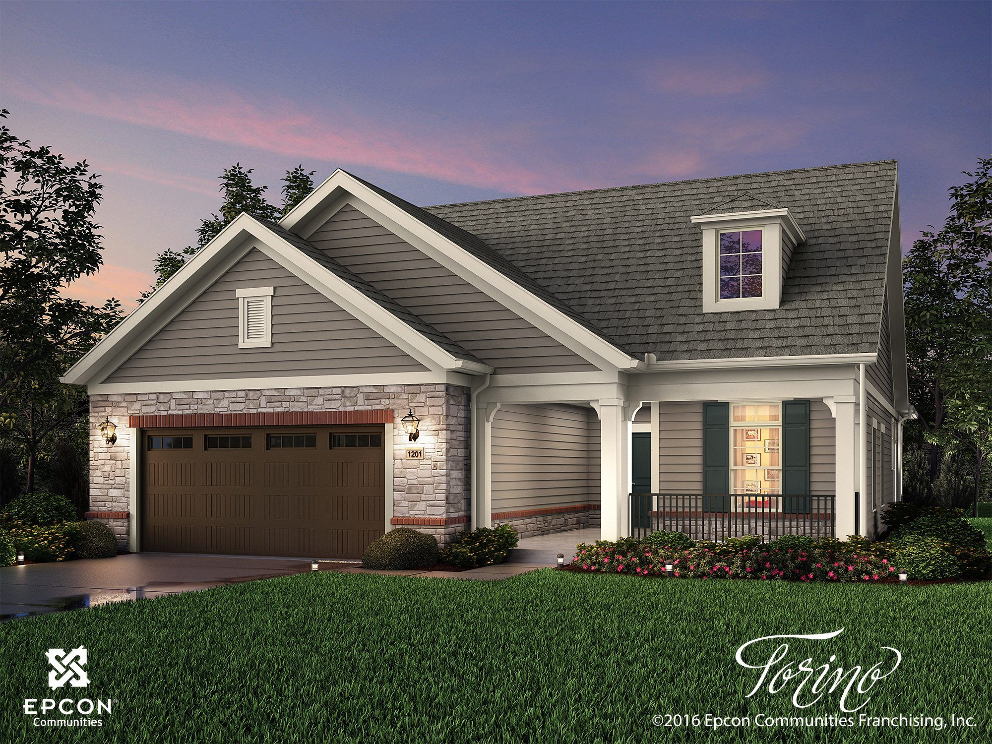 Exterior featured in the Torino By Epcon Communities in Columbus, OH