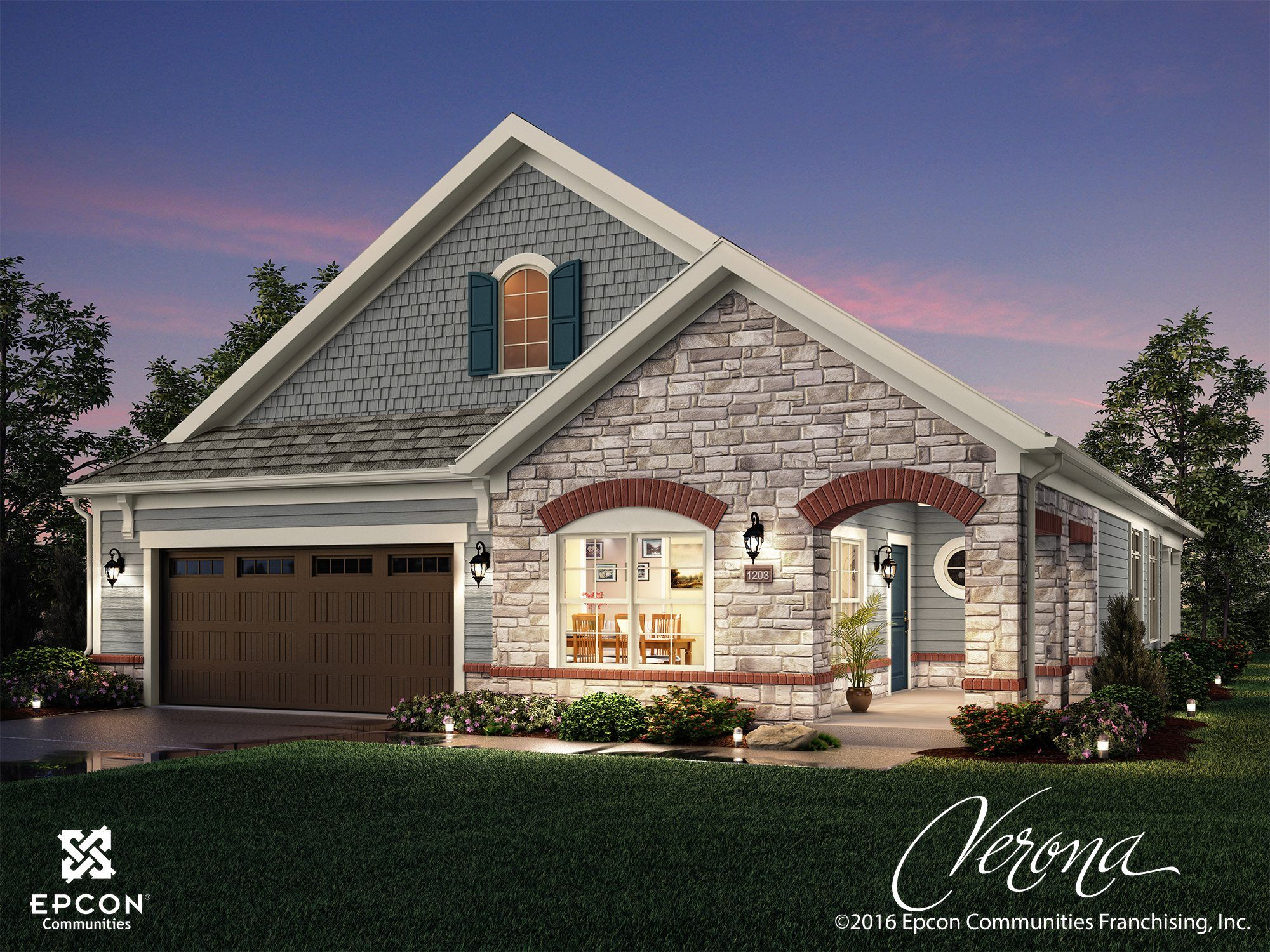 Exterior featured in the Verona By Epcon Communities in Columbus, OH