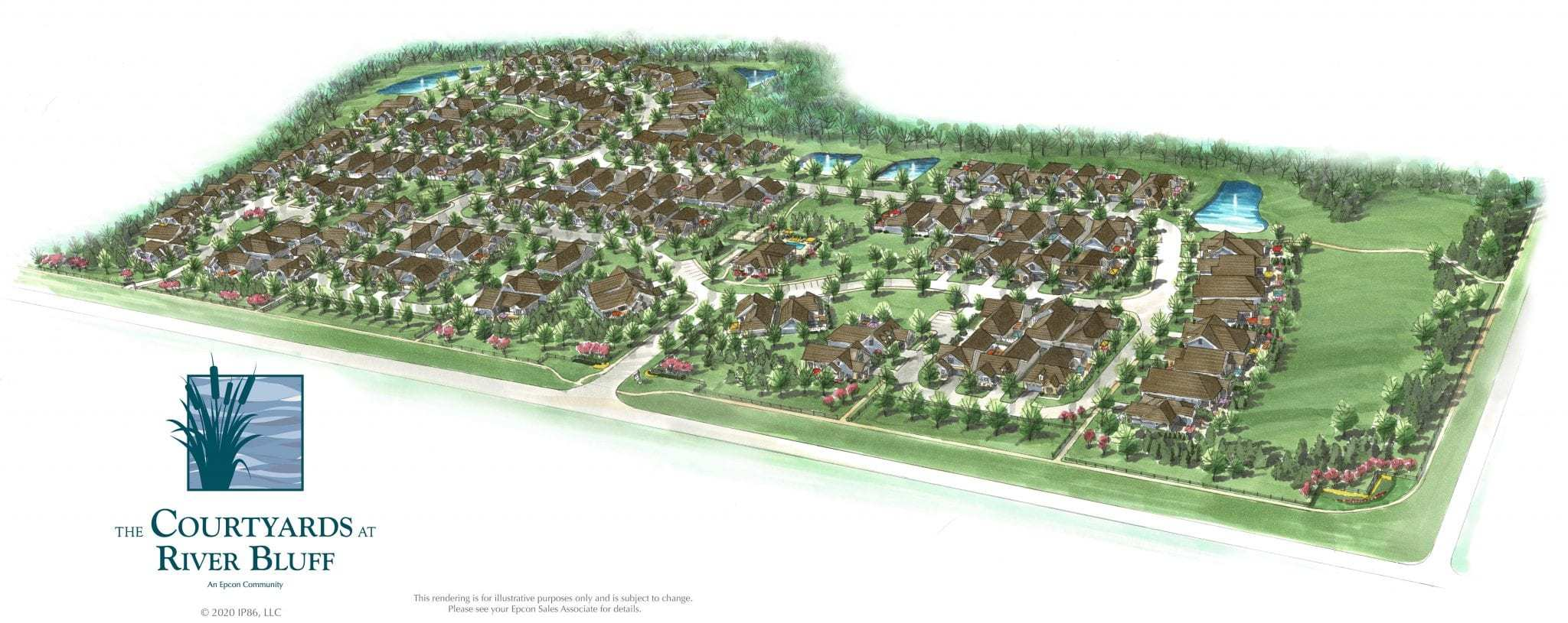 'The Courtyards at River Bluff' by Epcon Communities in Columbus