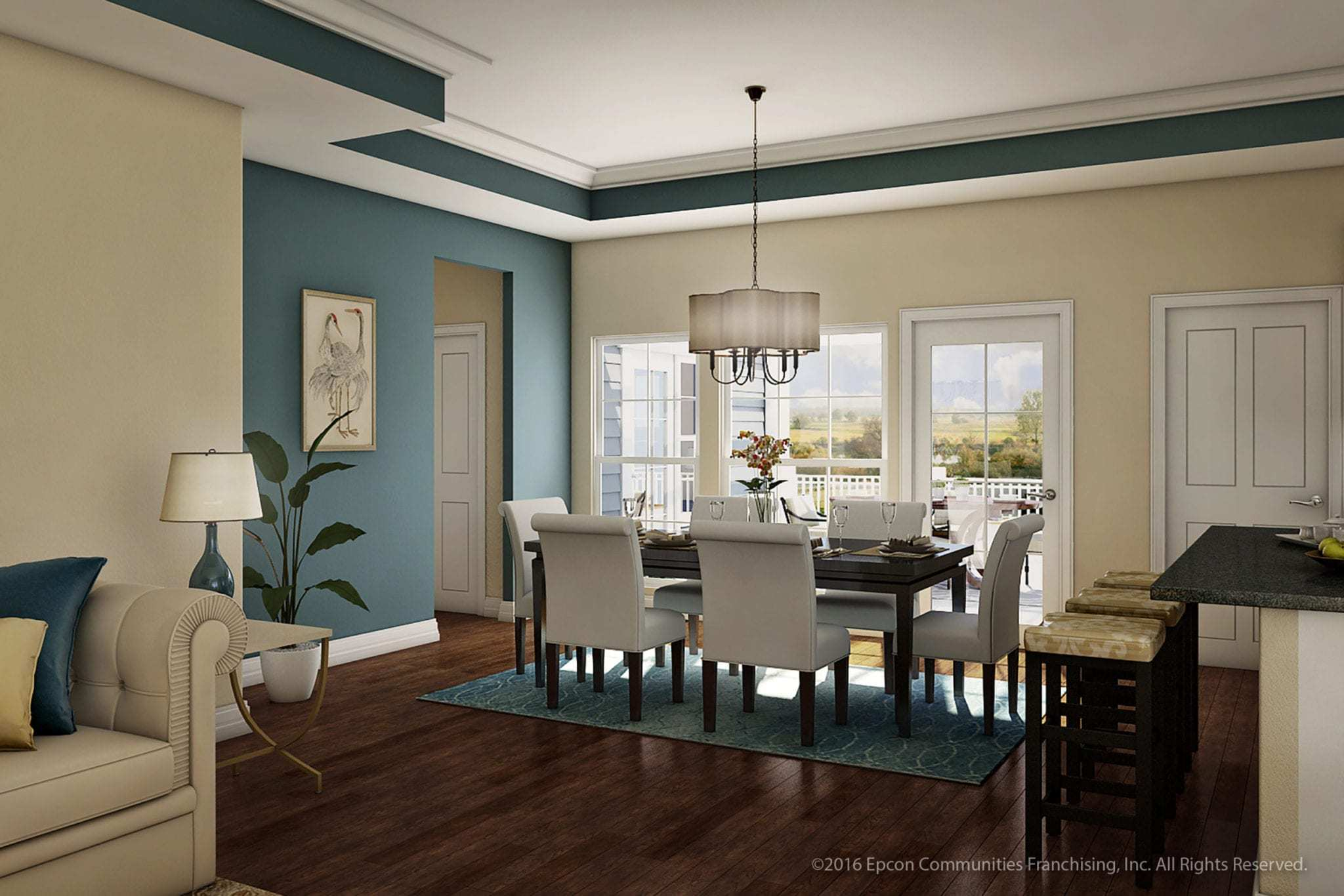 Living Area featured in the Berton II By Epcon Communities in Columbus, OH