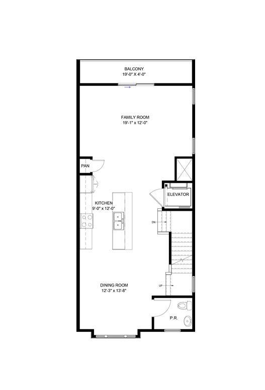Dorset ii with elevator home plan by eagle in floor plans for Elevator floor plan