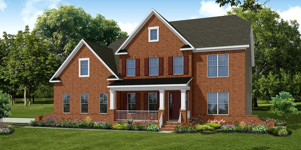 Pembroke European Elevation Brick Front