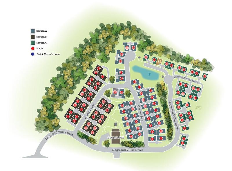 Villas at Dogwood Site Plan