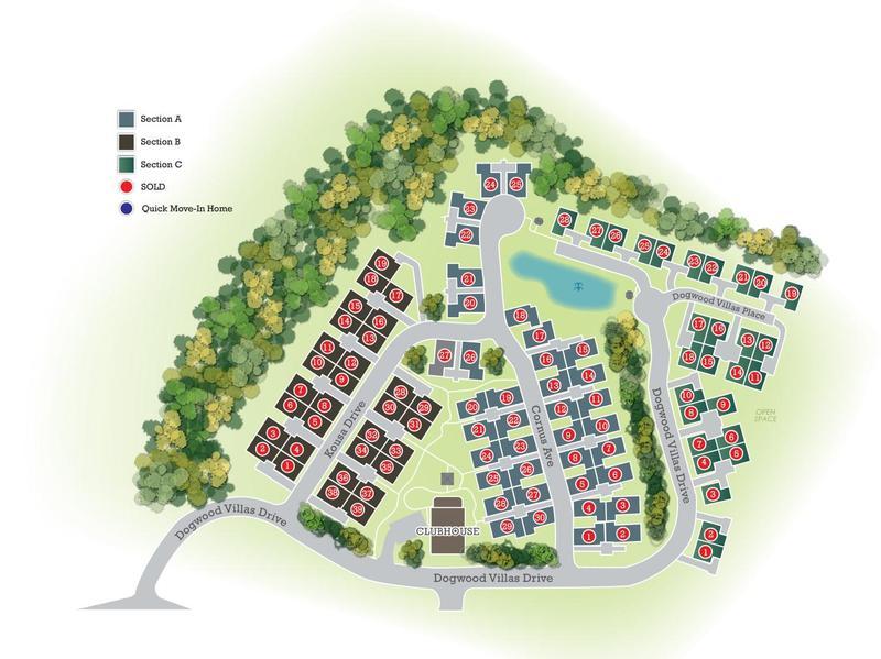 Eagle Construction Villas at Dogwood Site Plan