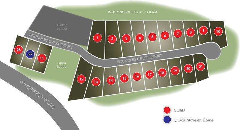 Eagle Construction Founders Bridge Golf Villas Site Plan