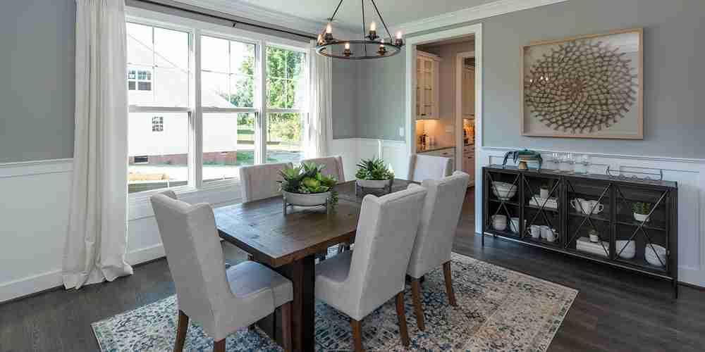 Eagle Construction at Cypress Creek Smithfield VA Model Home Dining Room