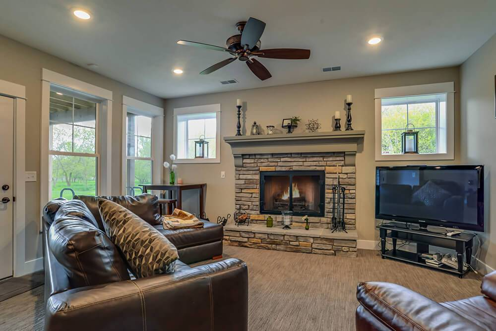 Living Area featured in The Birkshire By Eastbrook Homes Inc. in Lansing, MI