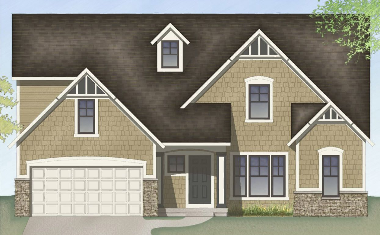 Exterior featured in The Sebastian  By Eastbrook Homes Inc. in Lansing, MI