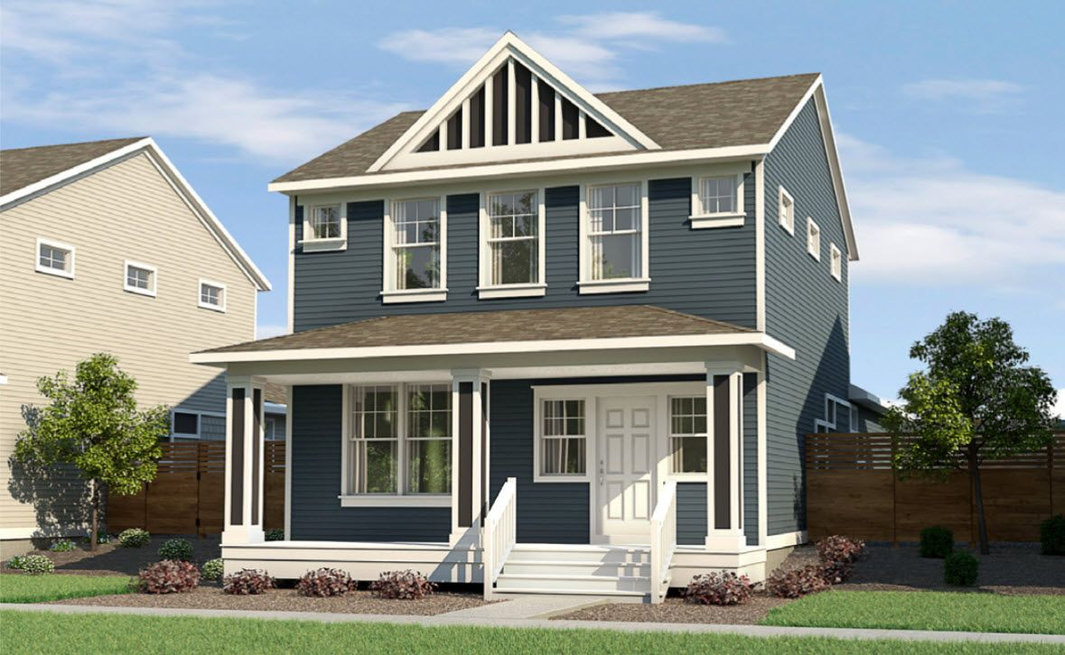 Exterior featured in The Bay Harbor By Eastbrook Homes Inc. in Grand Rapids, MI