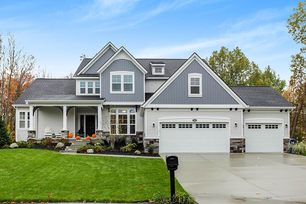 Exterior featured in The Birkshire By Eastbrook Homes Inc. in Grand Rapids, MI