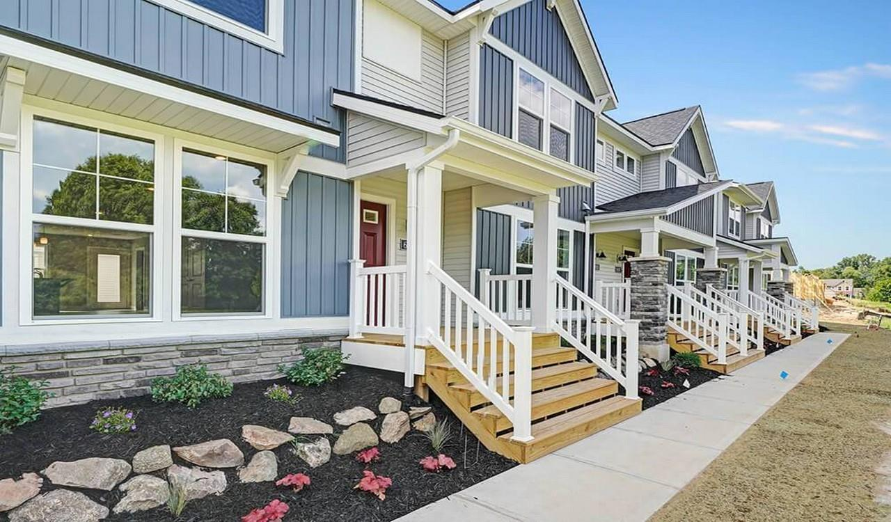 Exterior featured in The Town Square Townhome By Eastbrook Homes Inc. in Grand Rapids, MI