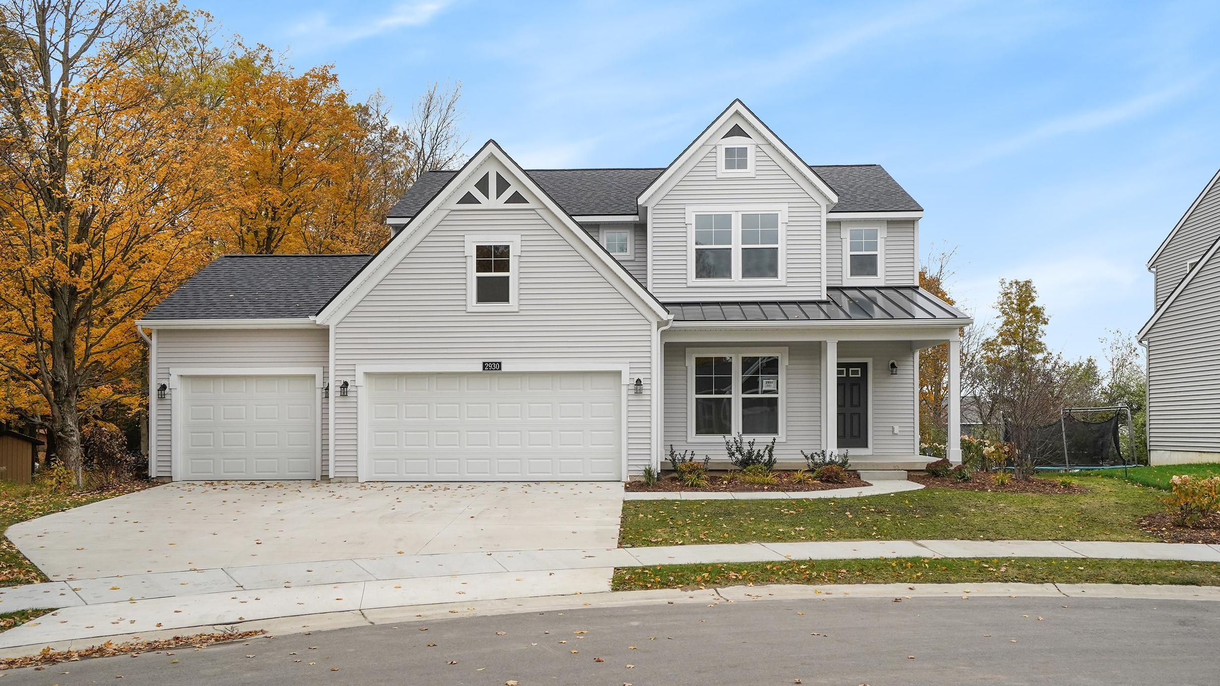 Exterior featured in The Stafford By Eastbrook Homes Inc. in Lansing, MI