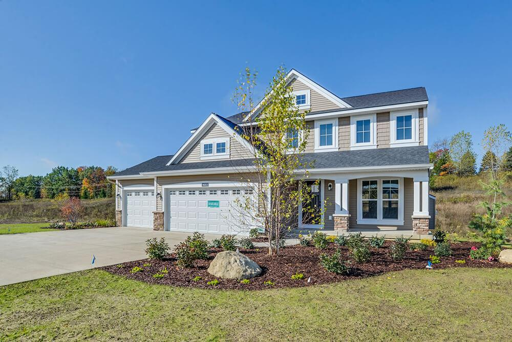 Exterior featured in The Sanibel By Eastbrook Homes Inc. in Lansing, MI