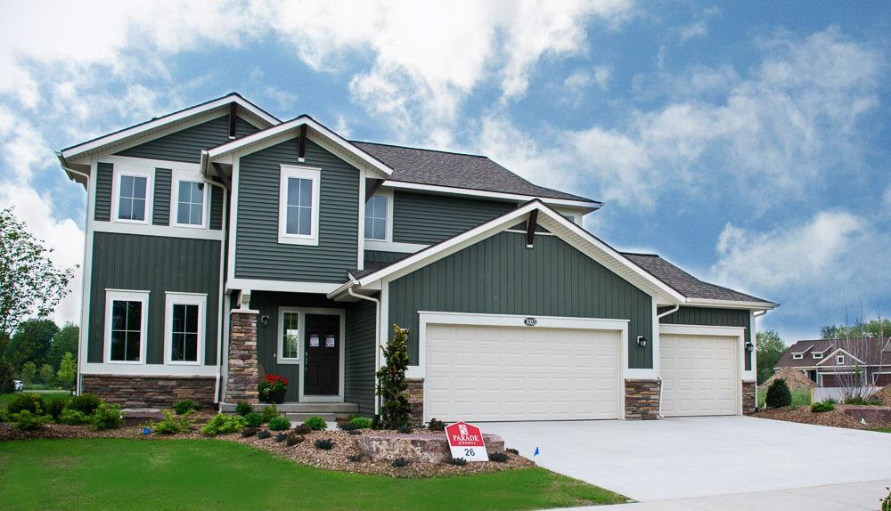 Exterior featured in The Newport By Eastbrook Homes Inc. in Lansing, MI