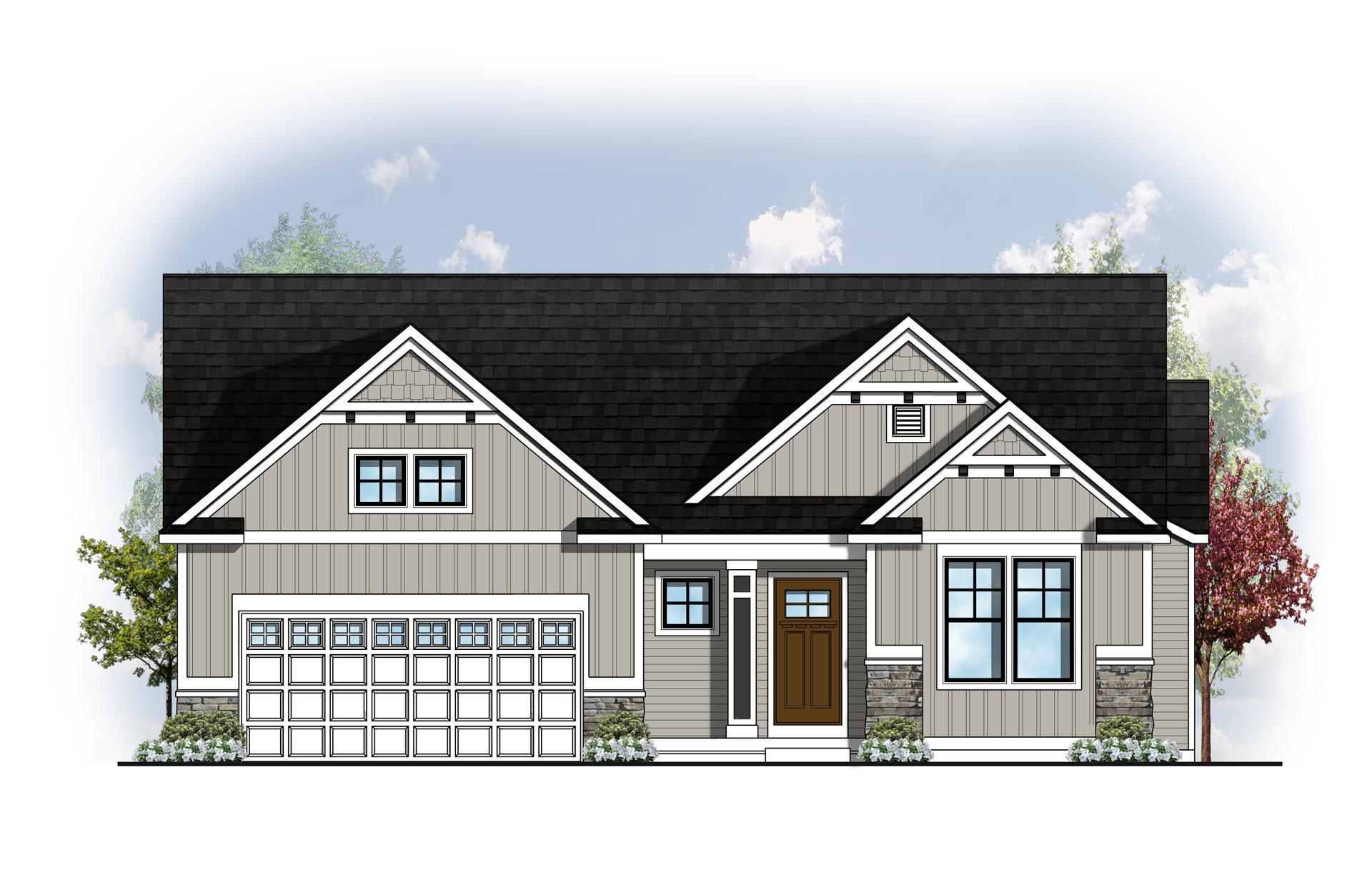 Exterior featured in The Balsam By Eastbrook Homes Inc. in Lansing, MI