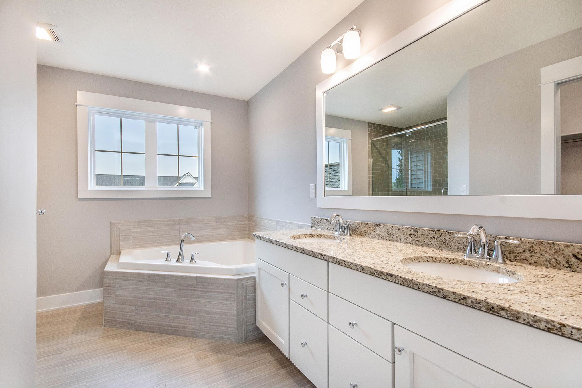 Bathroom featured in The Crestview By Eastbrook Homes Inc. in Lansing, MI