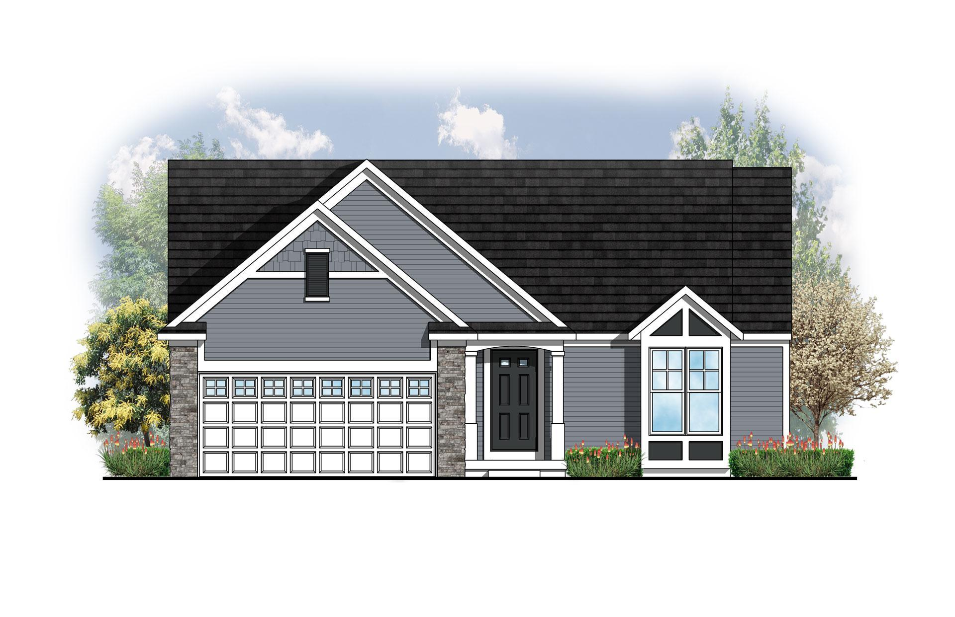 Exterior featured in The Georgetown By Eastbrook Homes Inc. in Lansing, MI