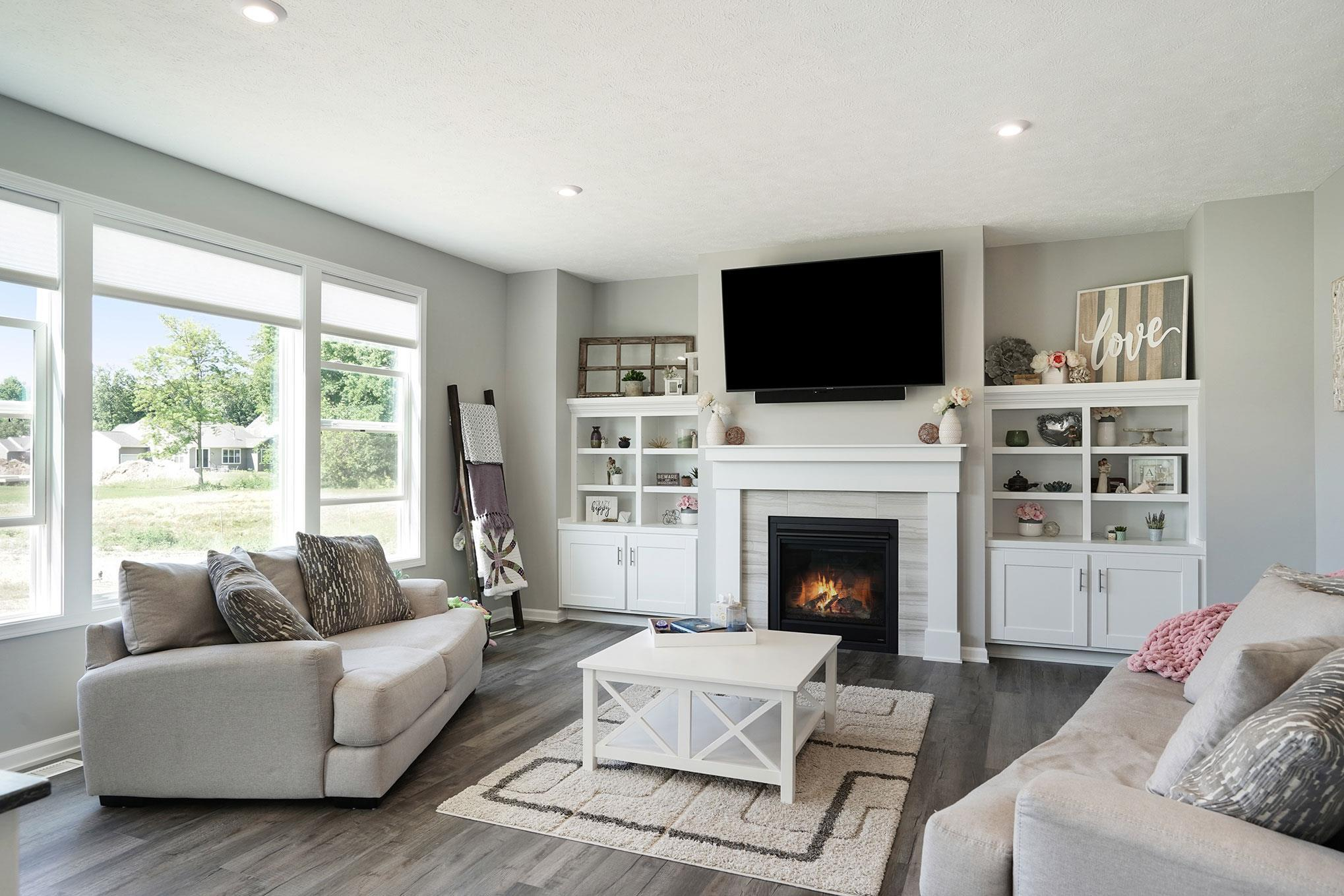 Living Area featured in The Crestview By Eastbrook Homes Inc. in Lansing, MI