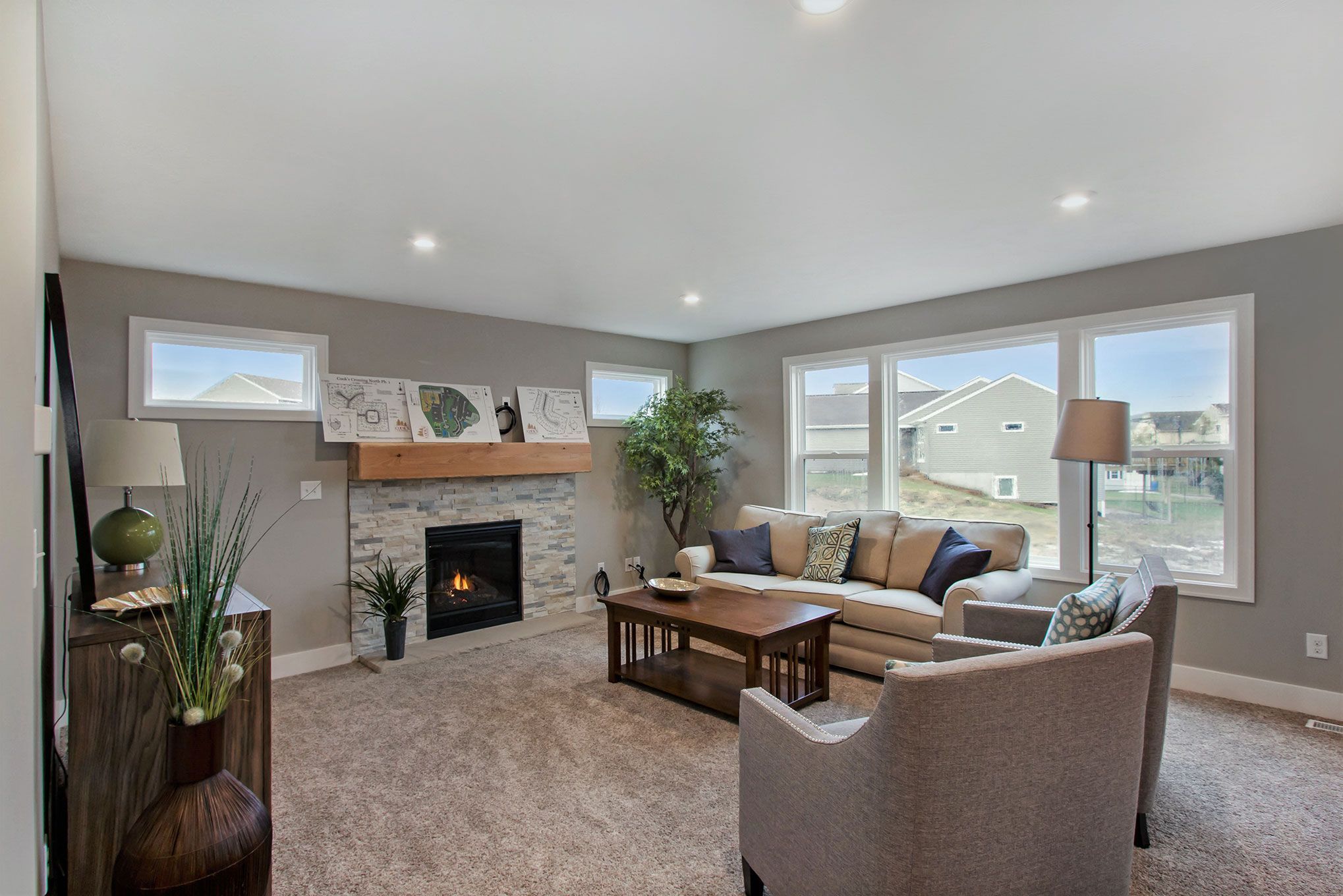 Living Area featured in The Stockton By Eastbrook Homes Inc. in Lansing, MI