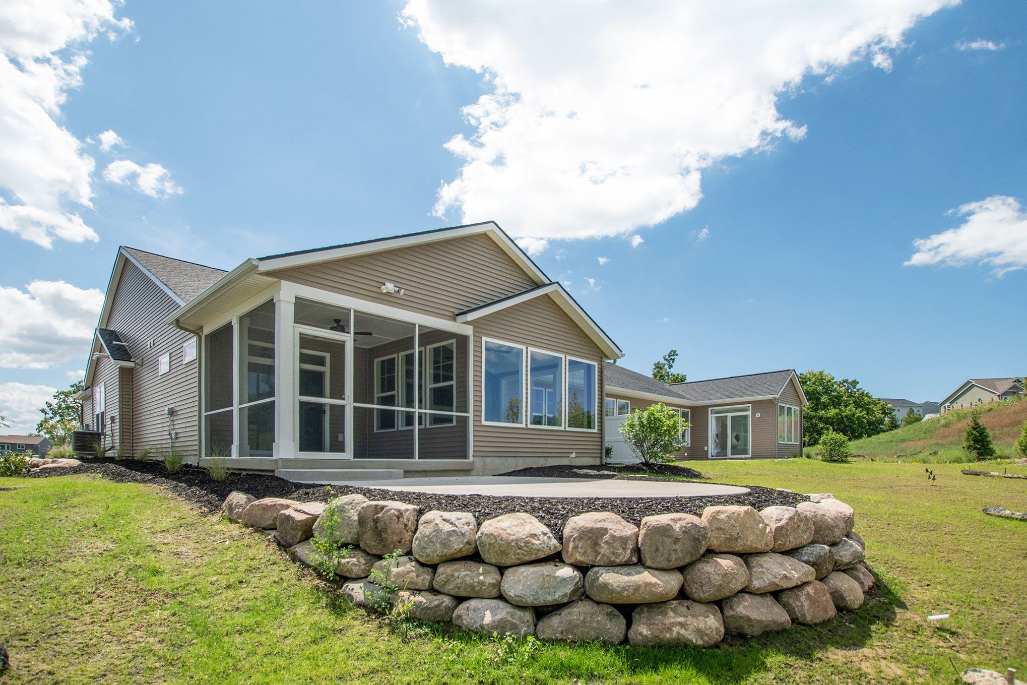 Exterior featured in The Pentwater II By Eastbrook Homes Inc. in Grand Rapids, MI