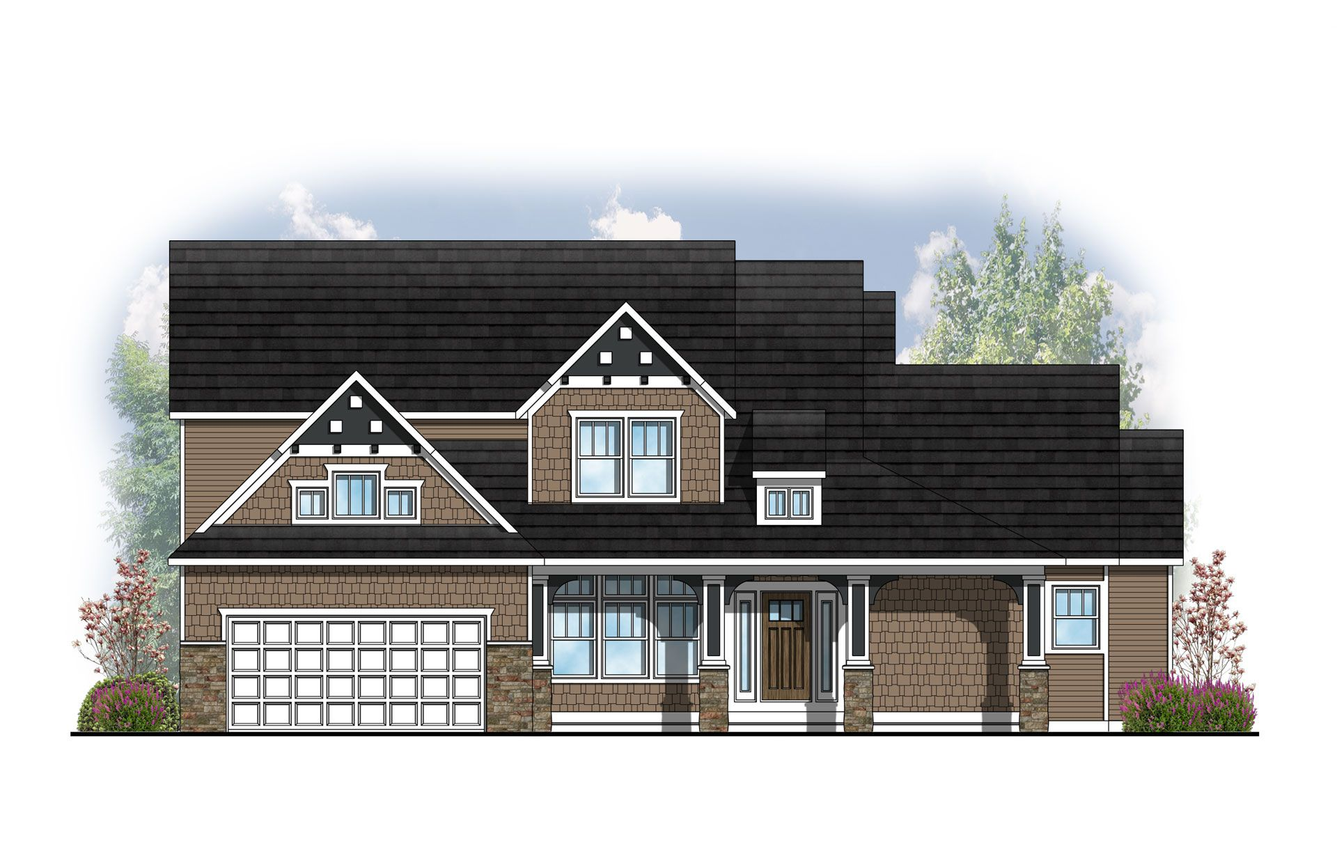 Exterior featured in The Birkshire By Eastbrook Homes Inc. in Lansing, MI