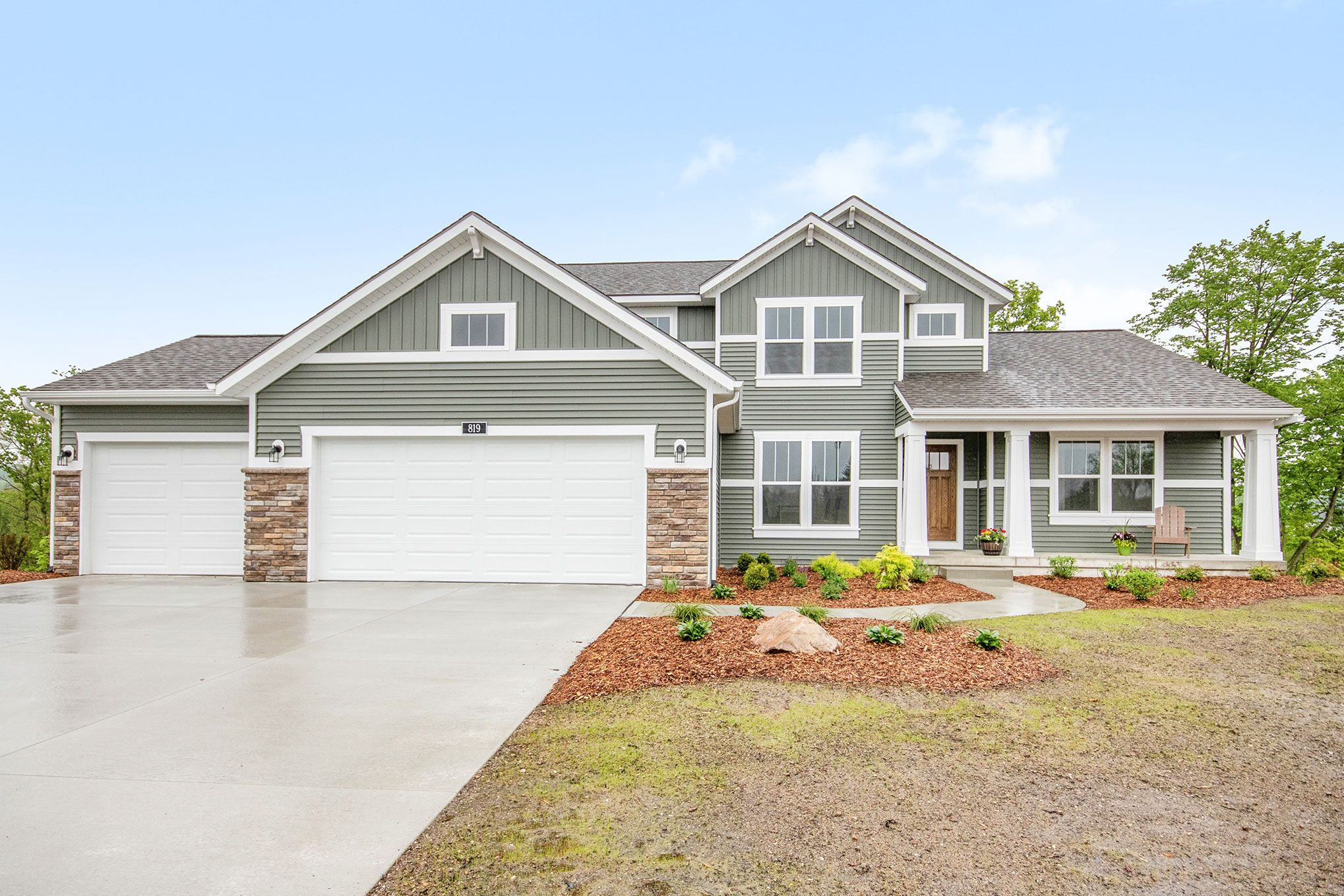 Exterior featured in The Hearthside By Eastbrook Homes Inc. in Lansing, MI
