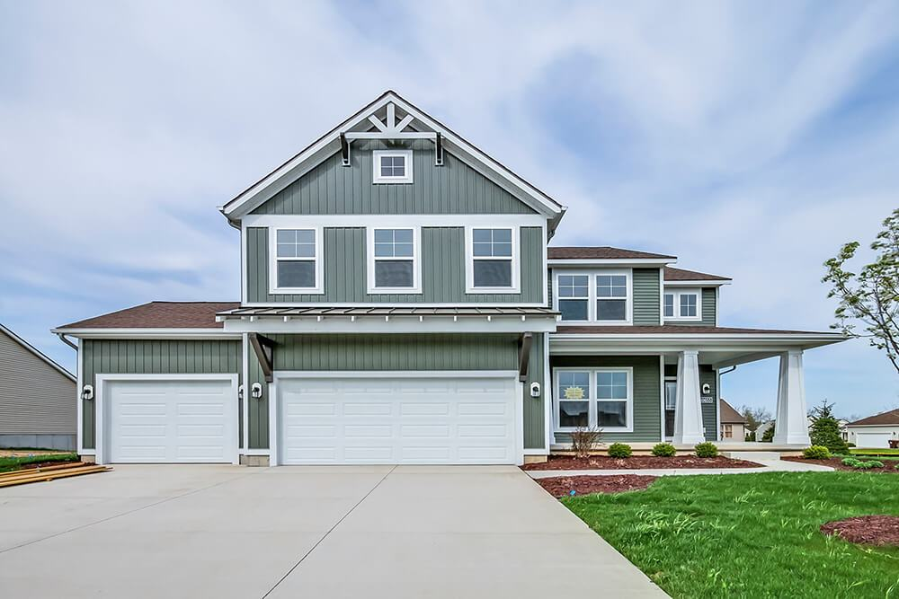 Exterior featured in The Preston By Eastbrook Homes Inc. in Lansing, MI