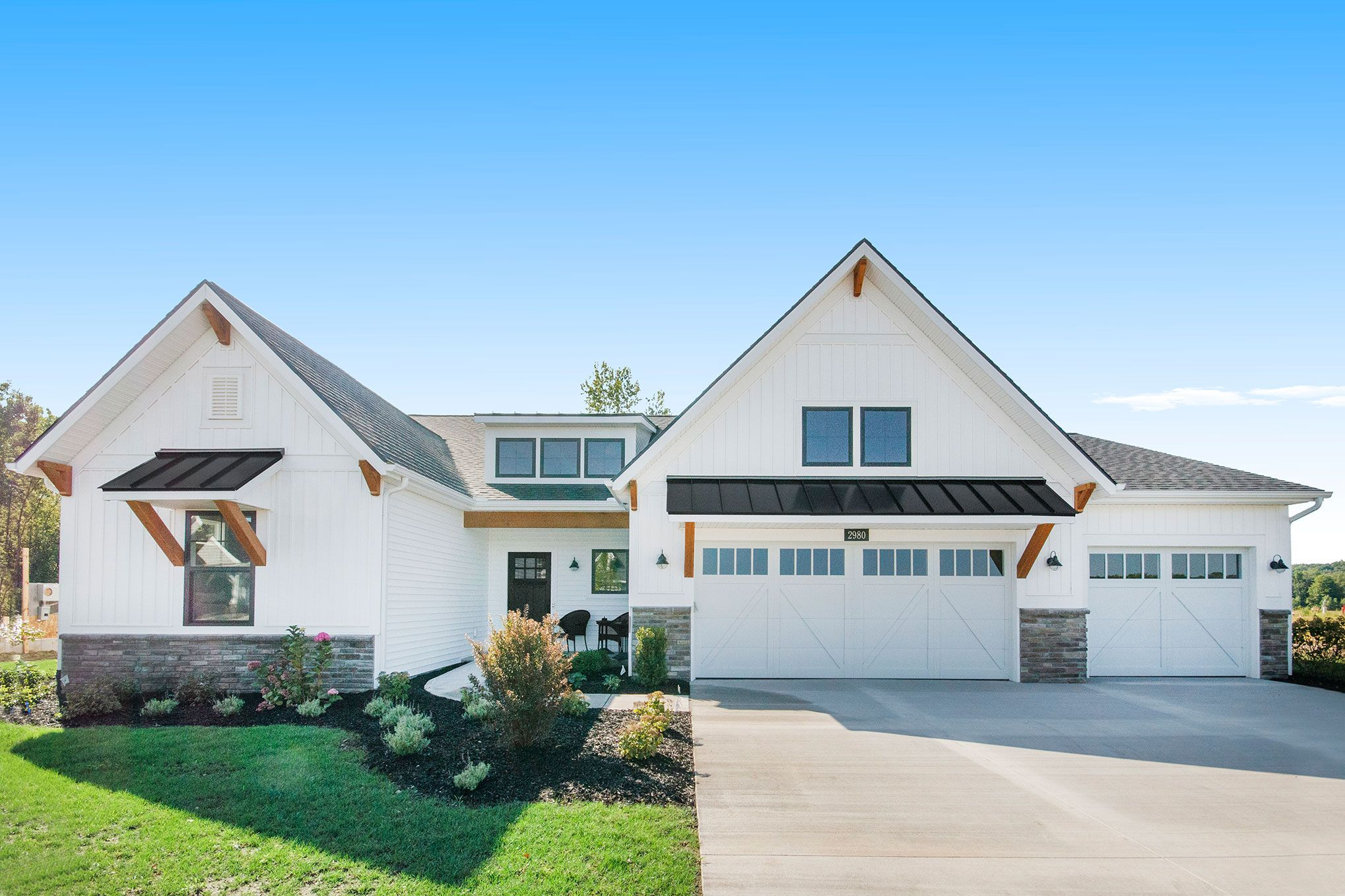 Exterior featured in The Jasmine By Eastbrook Homes Inc. in Grand Rapids, MI