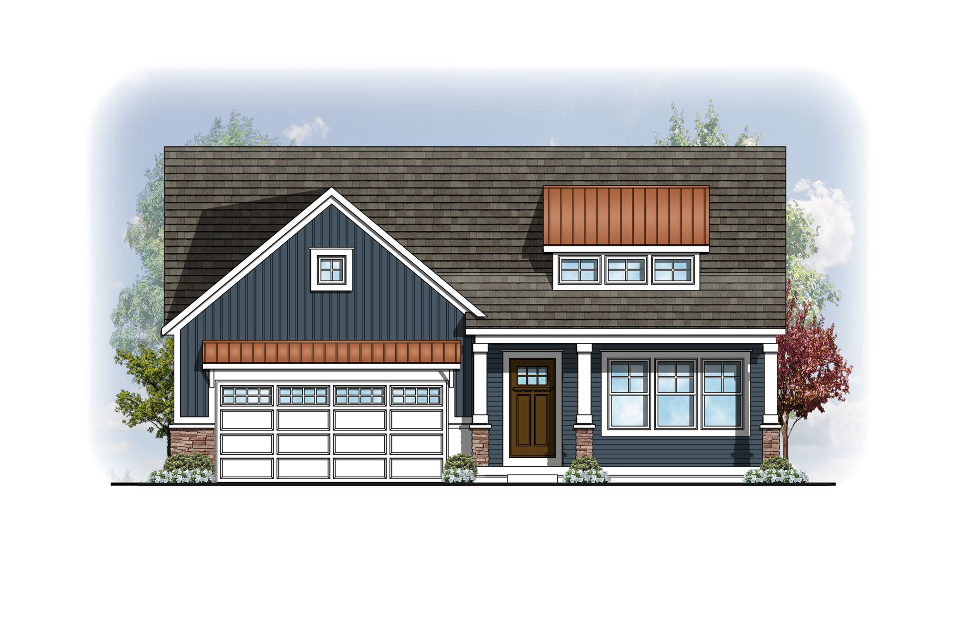 Exterior featured in The Willow ll Americana By Eastbrook Homes Inc. in Lansing, MI