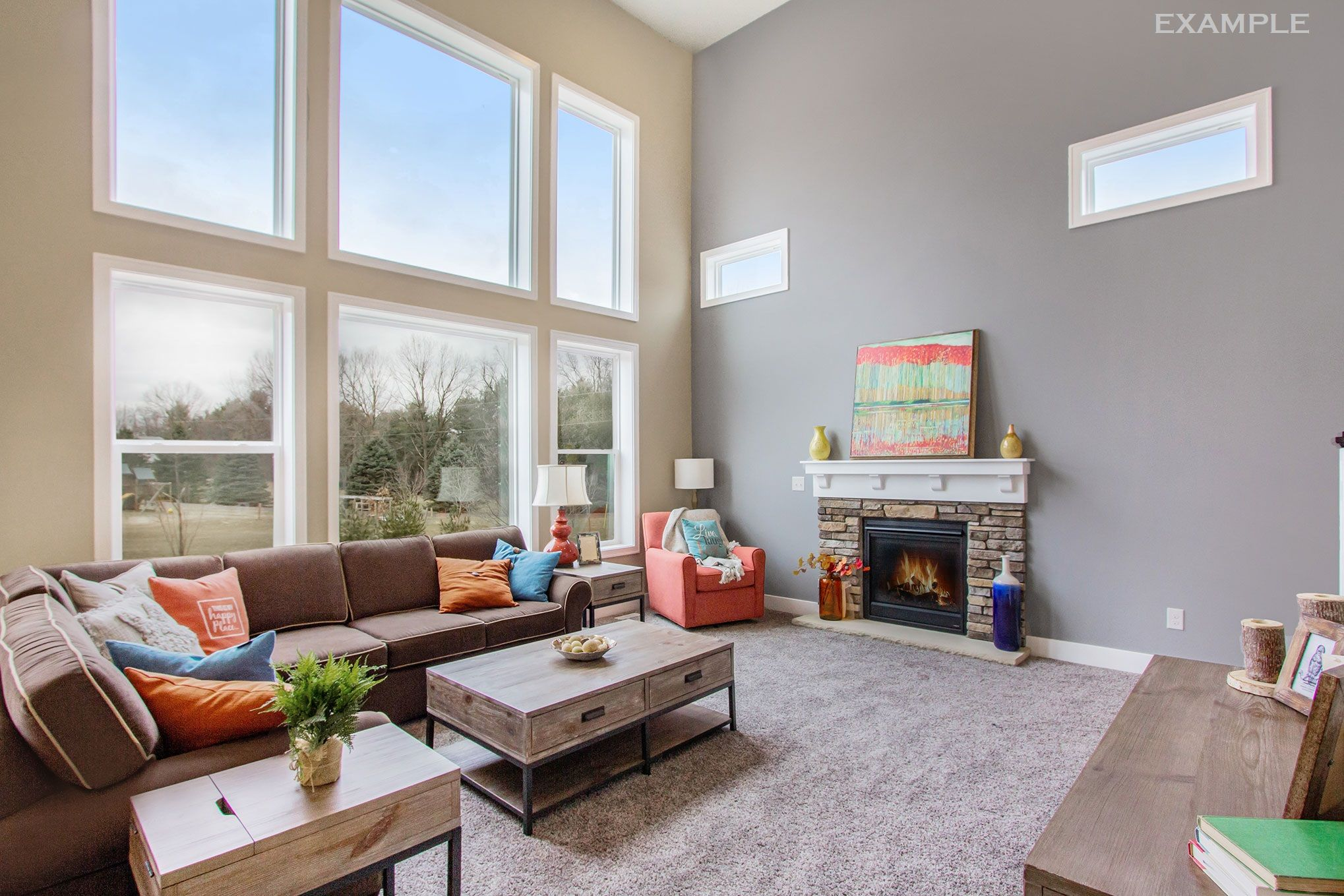 Living Area featured in The Stafford By Eastbrook Homes Inc. in Grand Rapids, MI