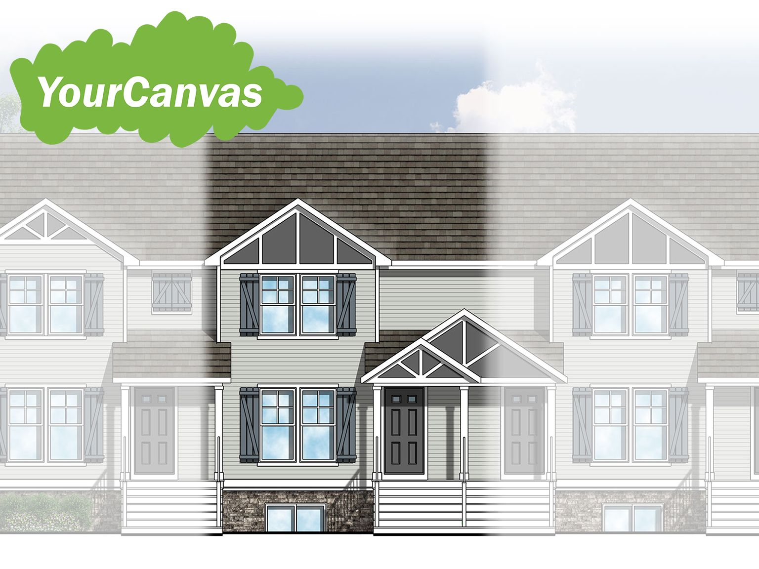 Exterior featured in The College Fields Townhomes By Eastbrook Homes Inc. in Lansing, MI