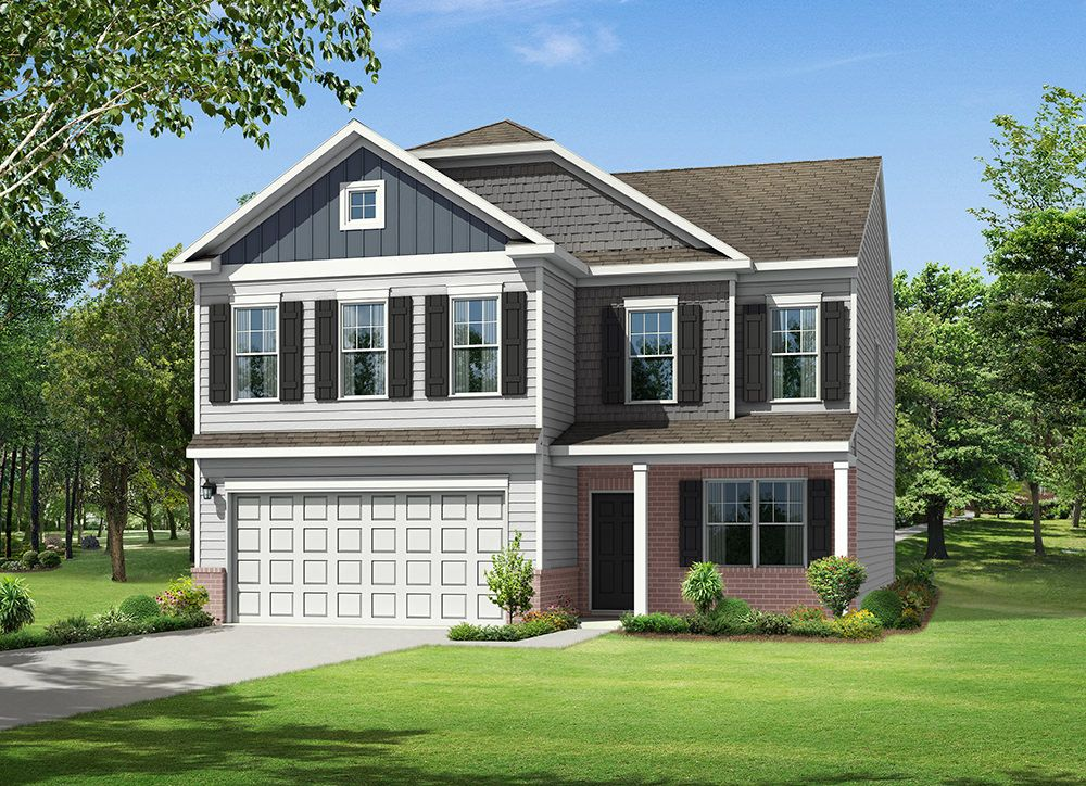 Exterior featured in the Drexel By Eastwood Homes in Atlanta, GA
