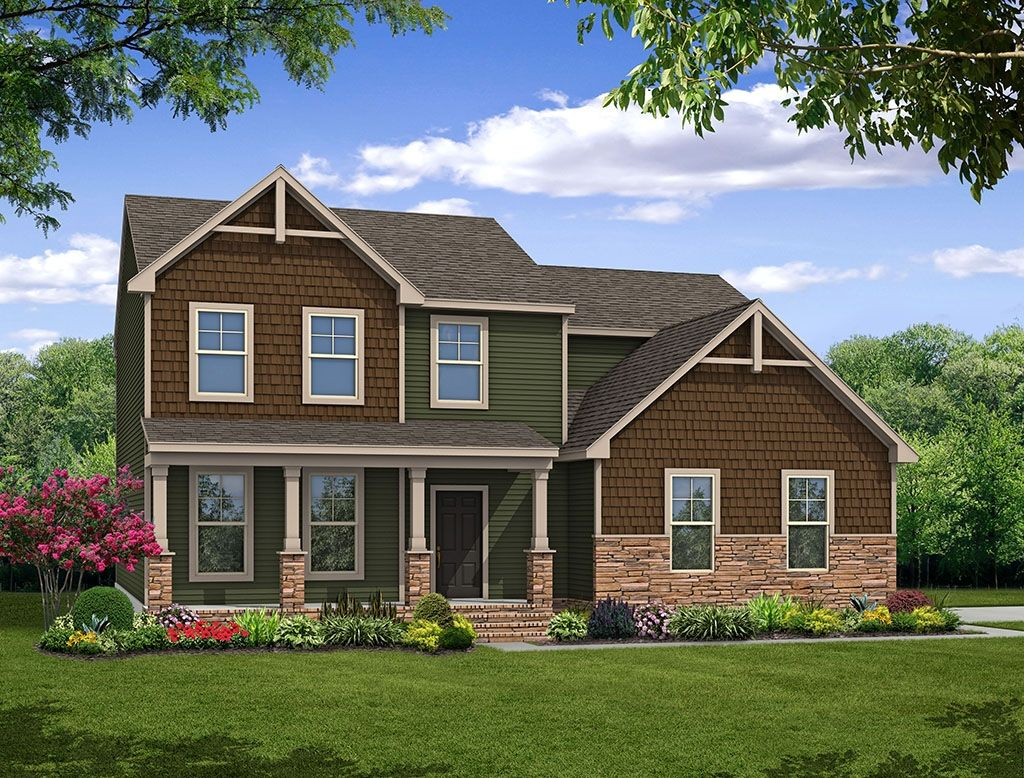 Exterior featured in the Brevard By Eastwood Homes in Richmond-Petersburg, VA