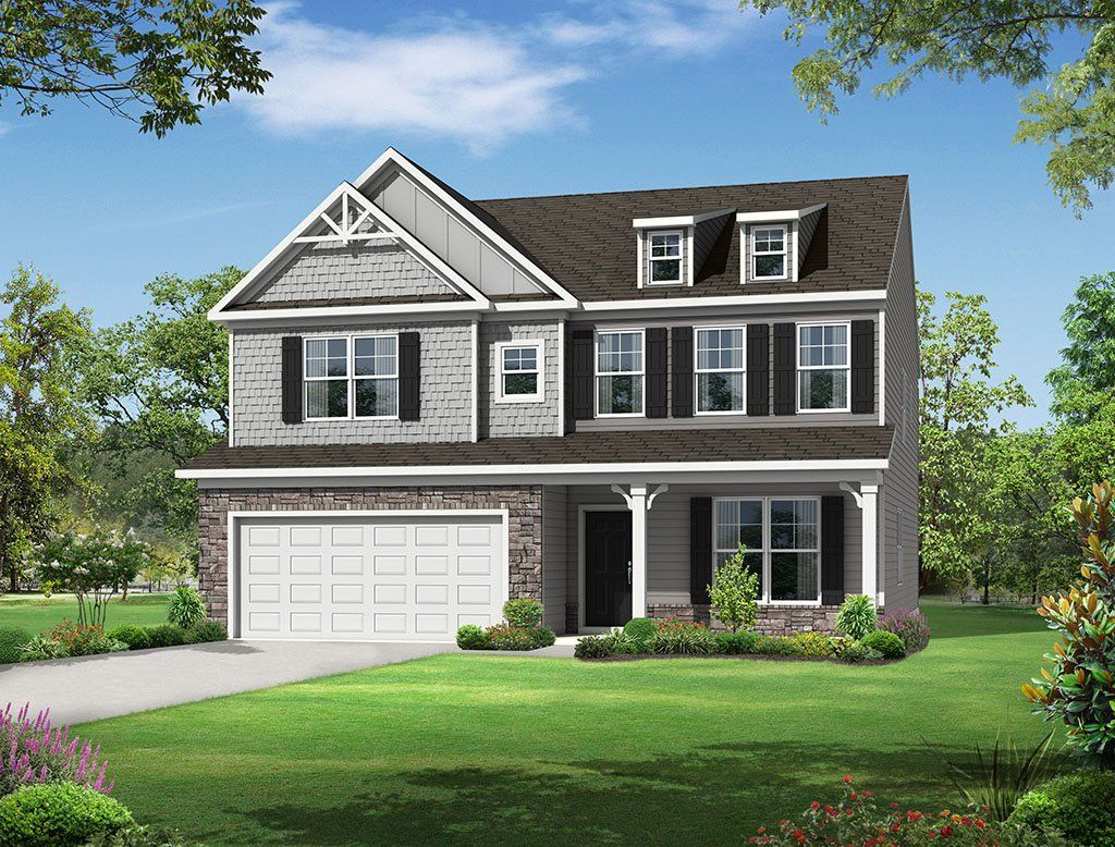 Exterior featured in the Davidson By Eastwood Homes in Raleigh-Durham-Chapel Hill, NC