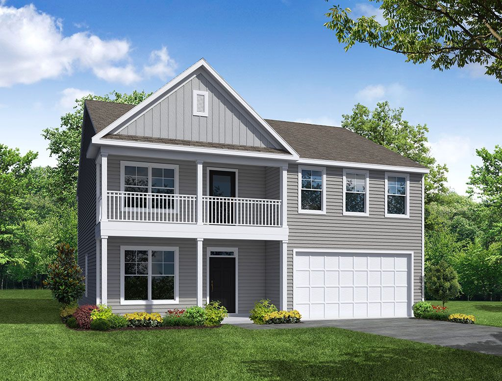 Exterior featured in the Wilmington By Eastwood Homes in Greenville-Spartanburg, SC