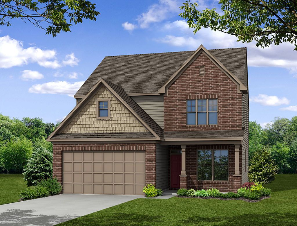 Exterior featured in the Oxford By Eastwood Homes in Greenville-Spartanburg, SC
