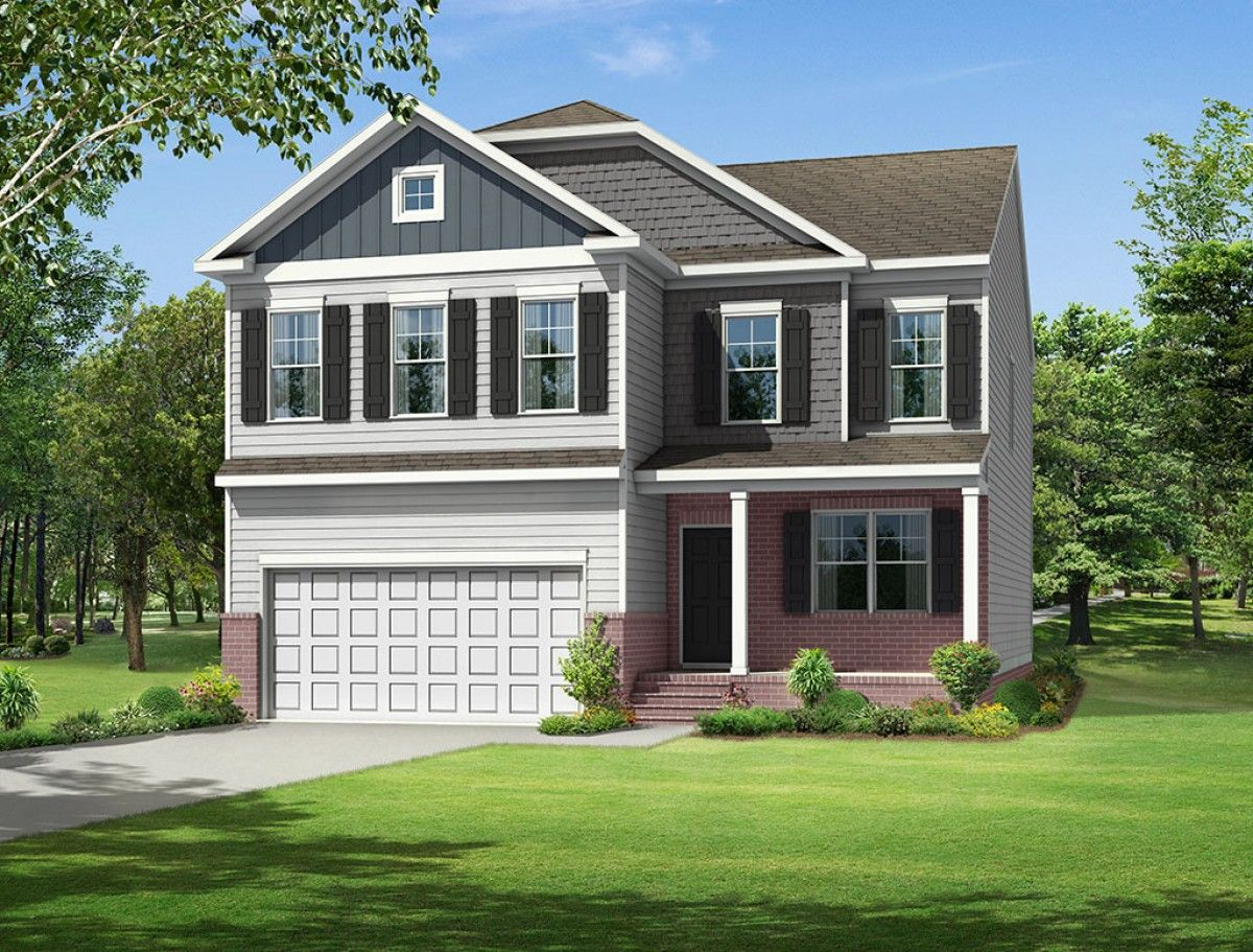 Exterior featured in the Drexel By Eastwood Homes in Greenville-Spartanburg, SC