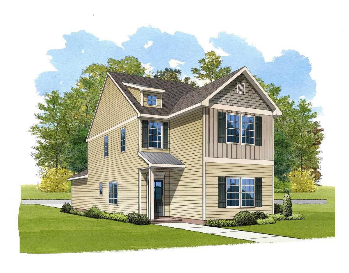 Exterior featured in the Langley By Eastwood Homes in Greenville-Spartanburg, SC