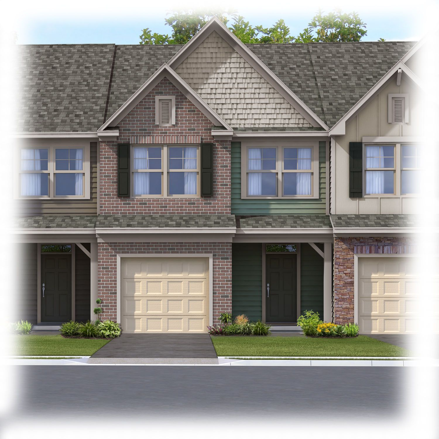 Exterior featured in the Ashland By Eastwood Homes in Charlotte, NC