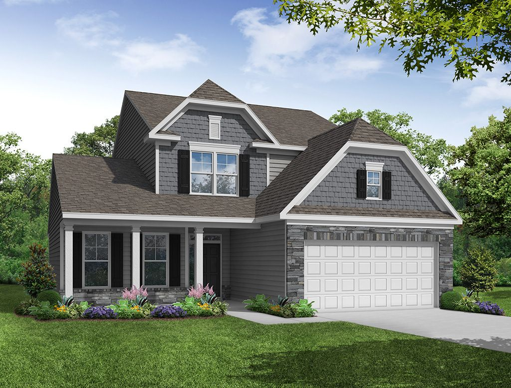 Exterior featured in the Raleigh By Eastwood Homes in Atlanta, GA