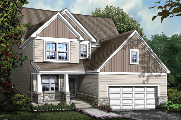 Exterior featured in The Sedona By Echelon Homes in Detroit, MI